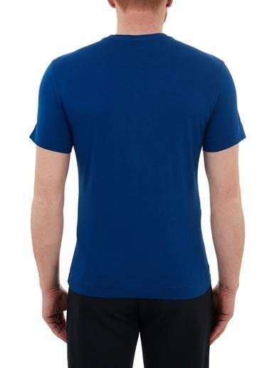 Emporio Armani  Baskılı Bisiklet Yaka % 100 Pamuk T Shirt Erkek T Shırt 3K1Te6 1Jshz 0921 Lacivert